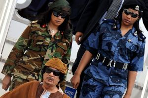 Muammar el-Gaddafi virgin female bodyguards 1