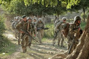 Defense.gov_News_Photo_110614-A-RR514-029_-_Afghan_soldiers_and_their_U.S._counterparts_march_toward_Gerekheyl_village_during_an_early_morning_patrol_in_Nangarhar_province_Afghanistan_on